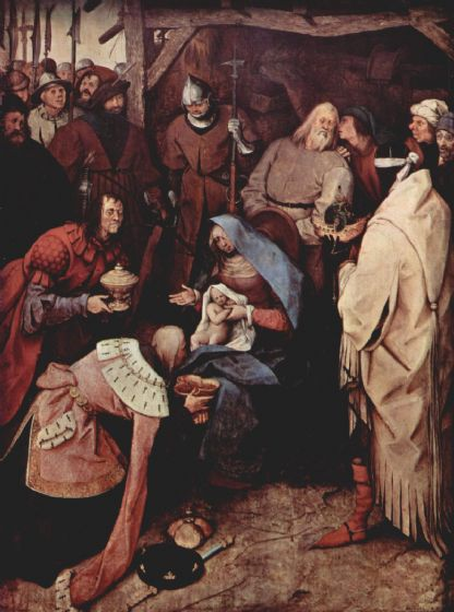 Bruegel the Elder, Pieter: The Adoration of the Kings. Fine Art Print/Poster. Sizes: A4/A3/A2/A1 (00869)